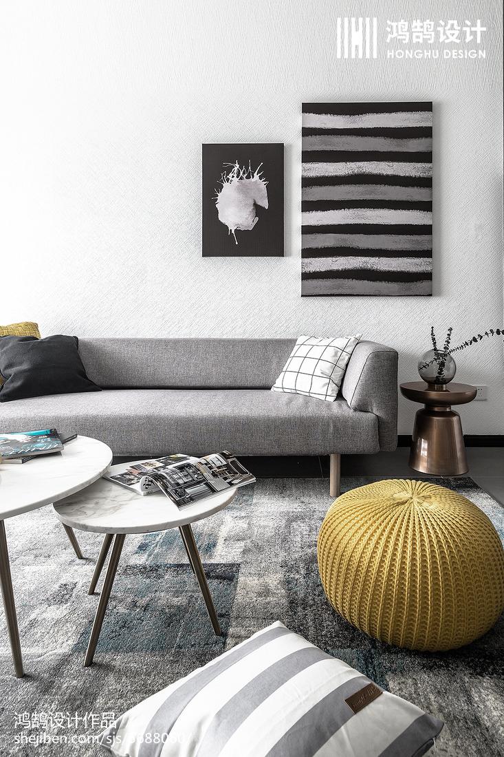 精致90平北欧三居客厅设计美图