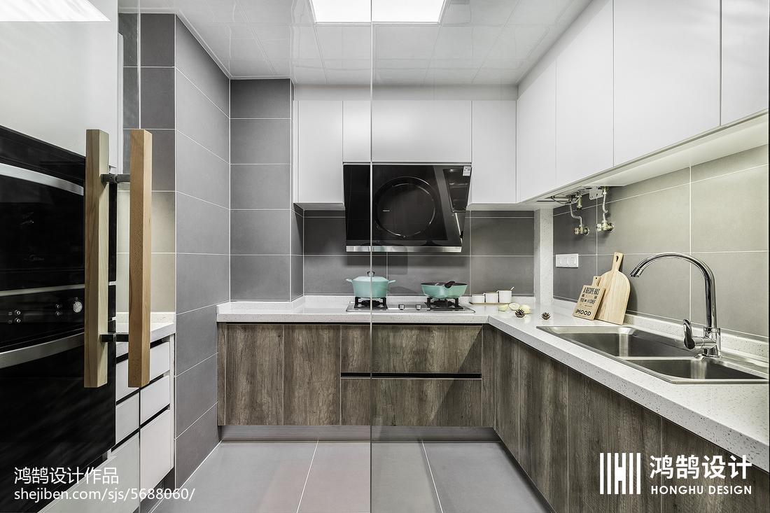 精美100平北歐三居廚房設計美圖