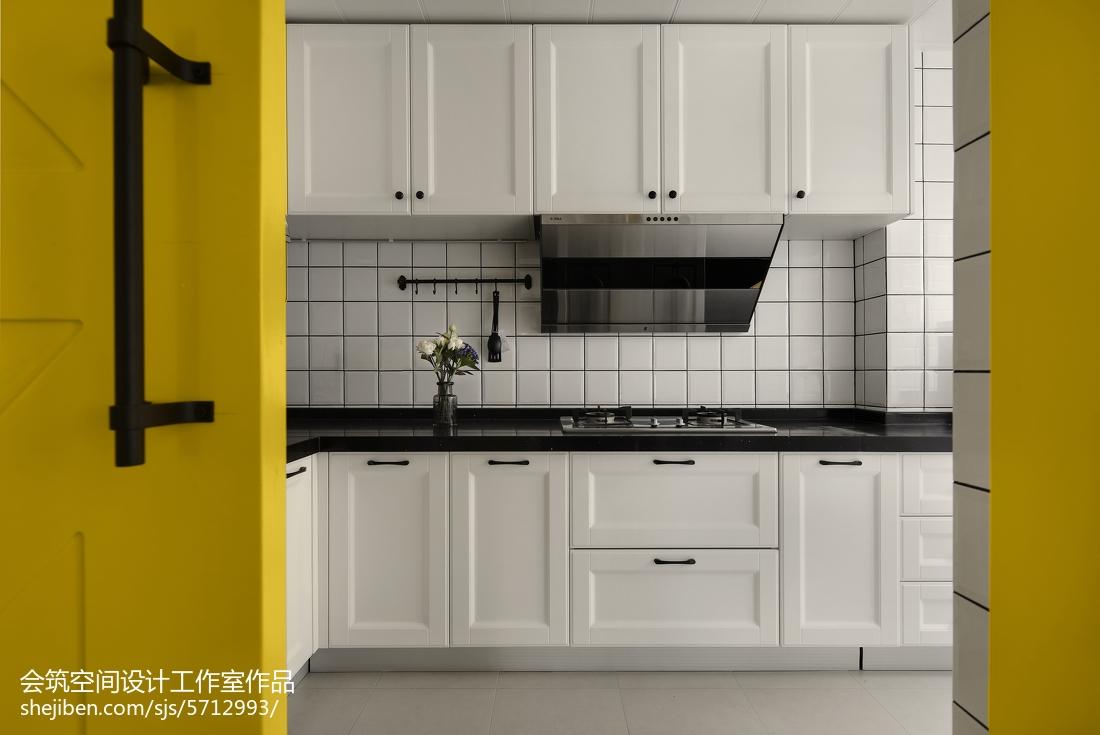 2018精选面积112平北欧四居厨房装修效果图片欣赏