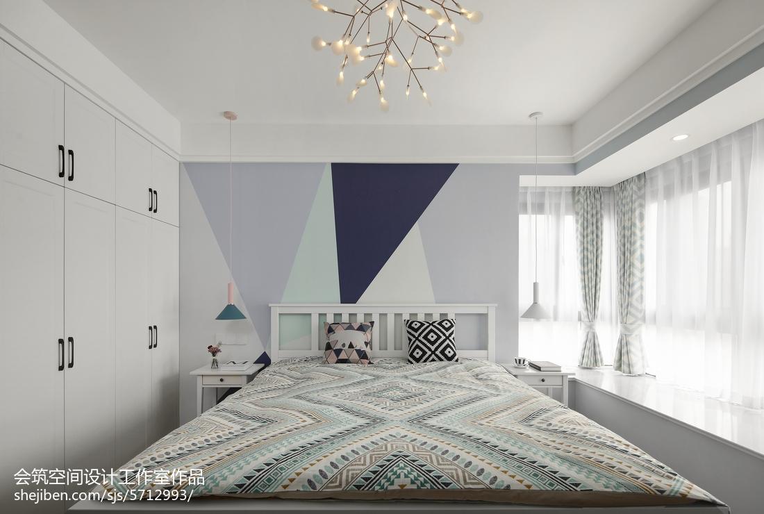 精美120平米四居卧室北欧装修设计效果图片欣赏