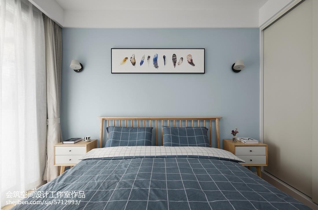 热门117平米四居卧室北欧装修实景图片