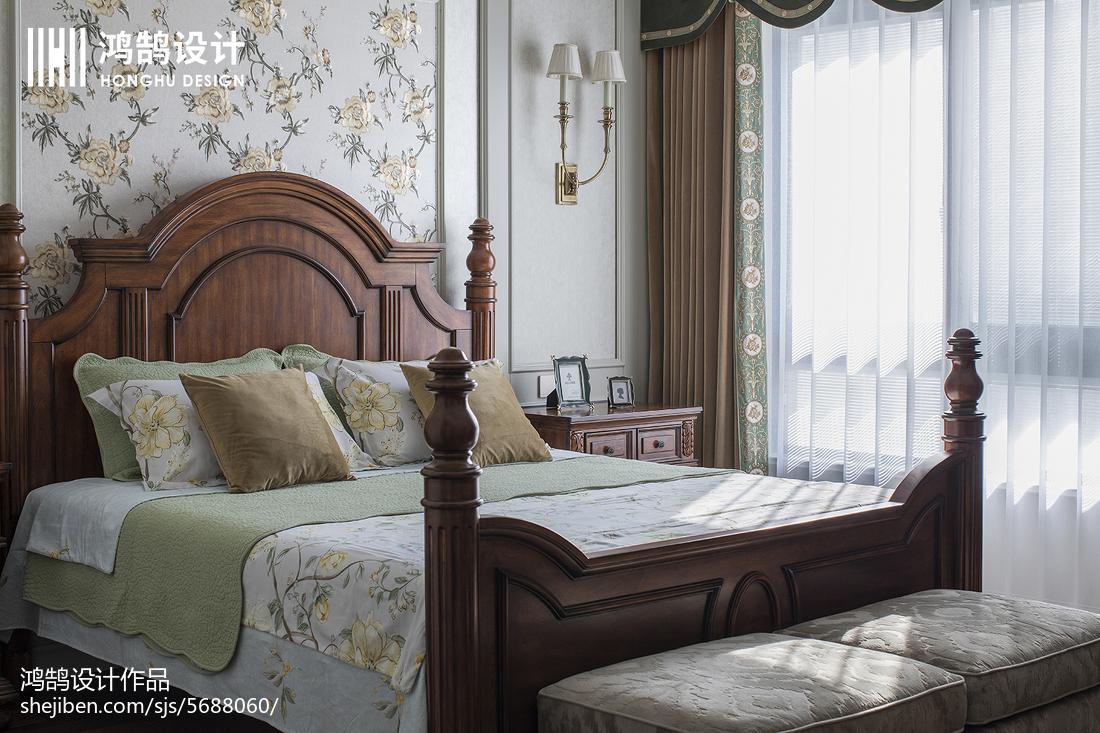 精美面積92平美式三居臥室裝修實景圖片欣賞