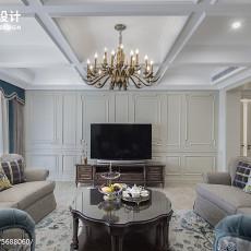 2018精选大小100平美式三居客厅装修欣赏图