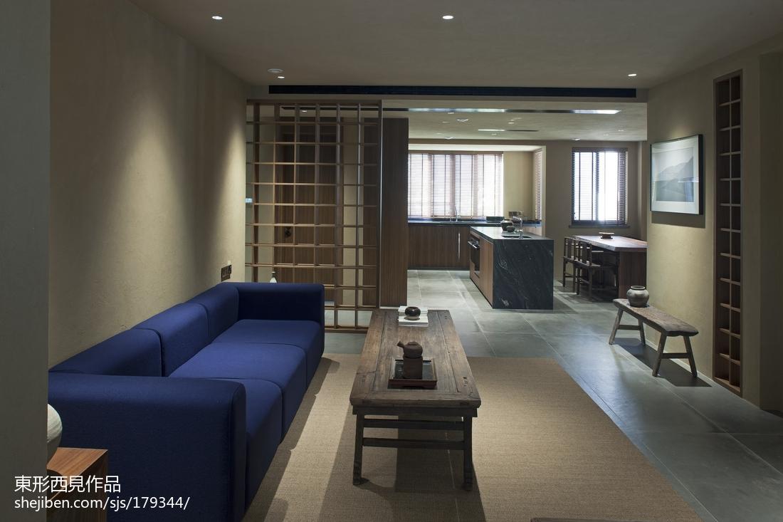 热门103平米三居客厅中式欣赏图片大全