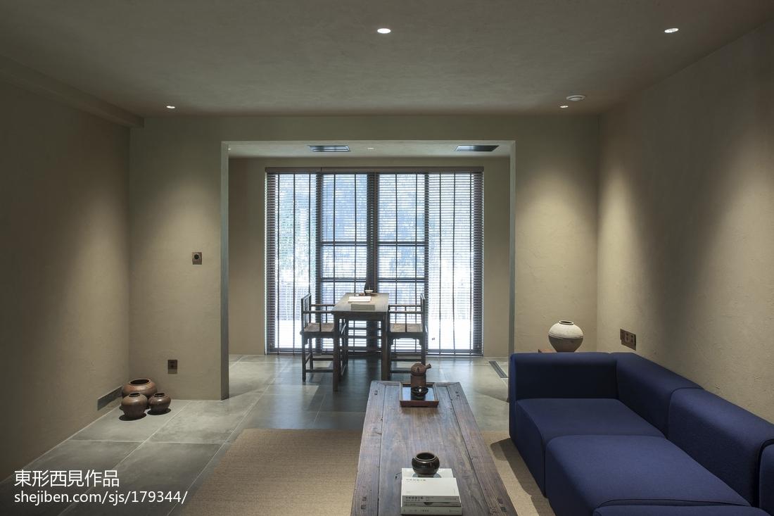 2018精选100平米三居客厅中式装修实景图