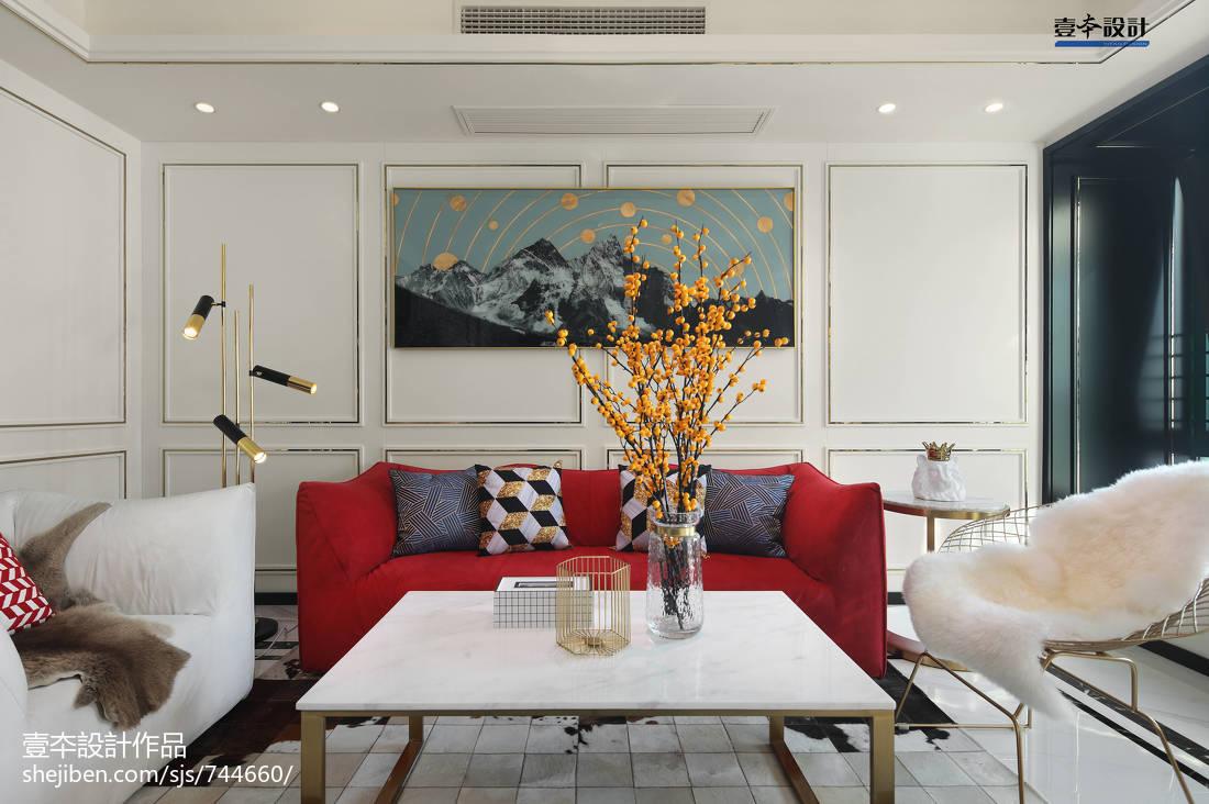 精选93平方三居客厅简约装修效果图片欣赏