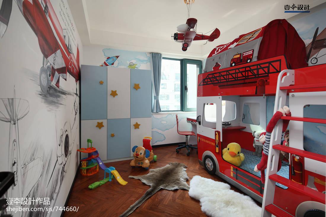 精选面积98平简约三居儿童房装修图片大全