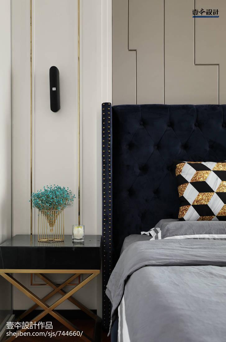 精选面积92平简约三居卧室装饰图片大全