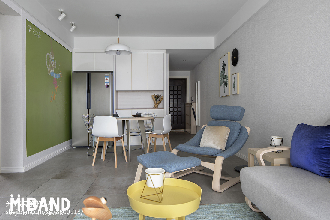 热门84平米北欧小户型客厅装修设计效果图
