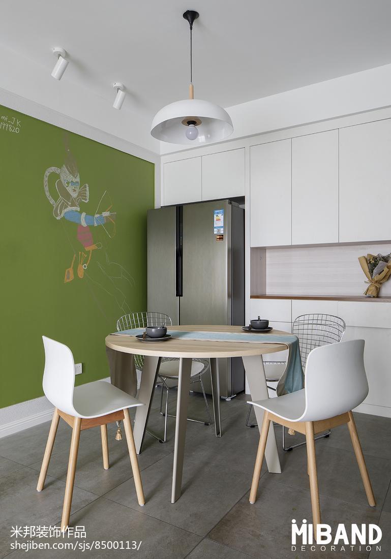优雅28平北欧小户型餐厅装修图片