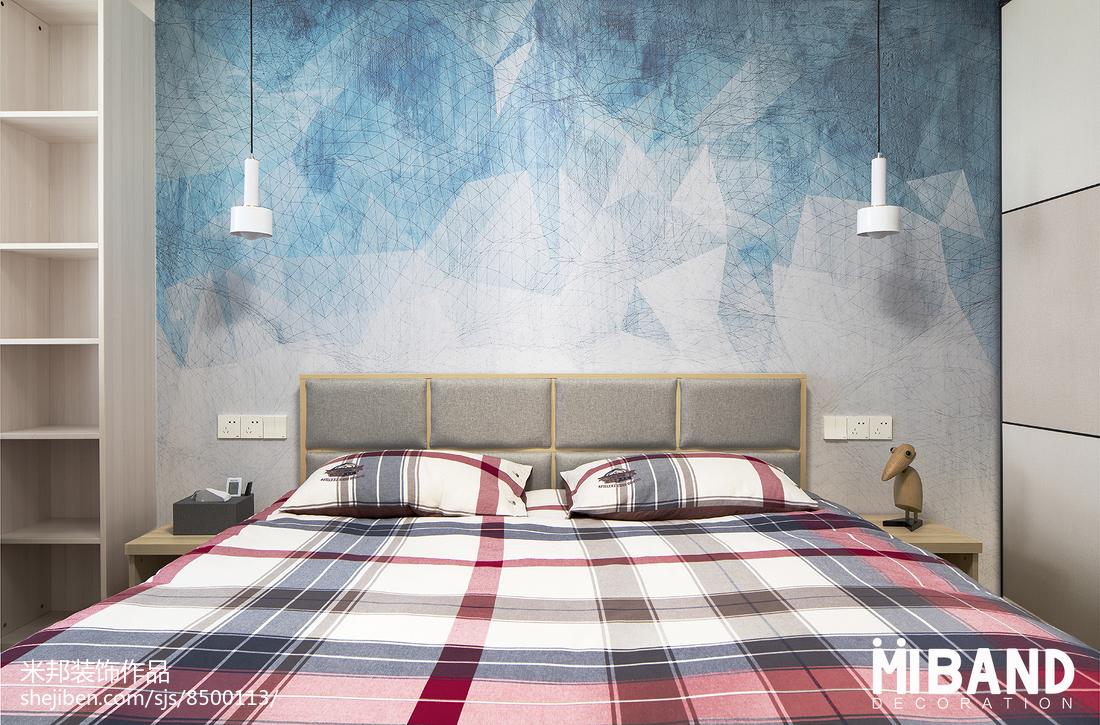 温馨38平北欧小户型卧室装修设计图