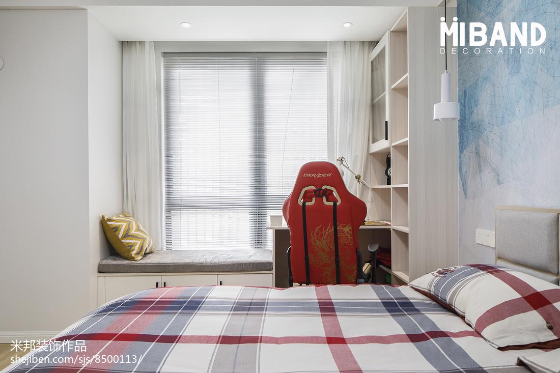 简洁36平北欧小户型卧室设计案例