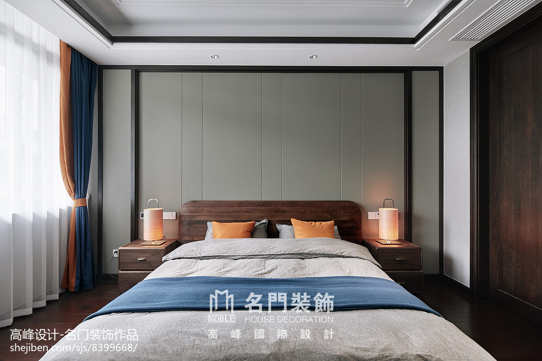 2018精选面积131平别墅卧室中式装修效果图片大全