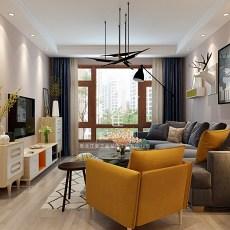 103平米三居客厅现代装修图