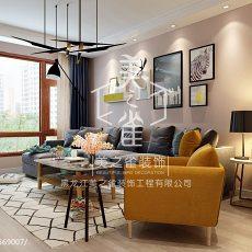 面积90平现代三居客厅装修图片大全