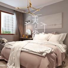 2018面积103平现代三居卧室装饰图