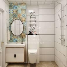 精选104平米三居卫生间现代装修实景图片