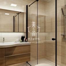 精美面积107平现代三居卫生间装修欣赏图片