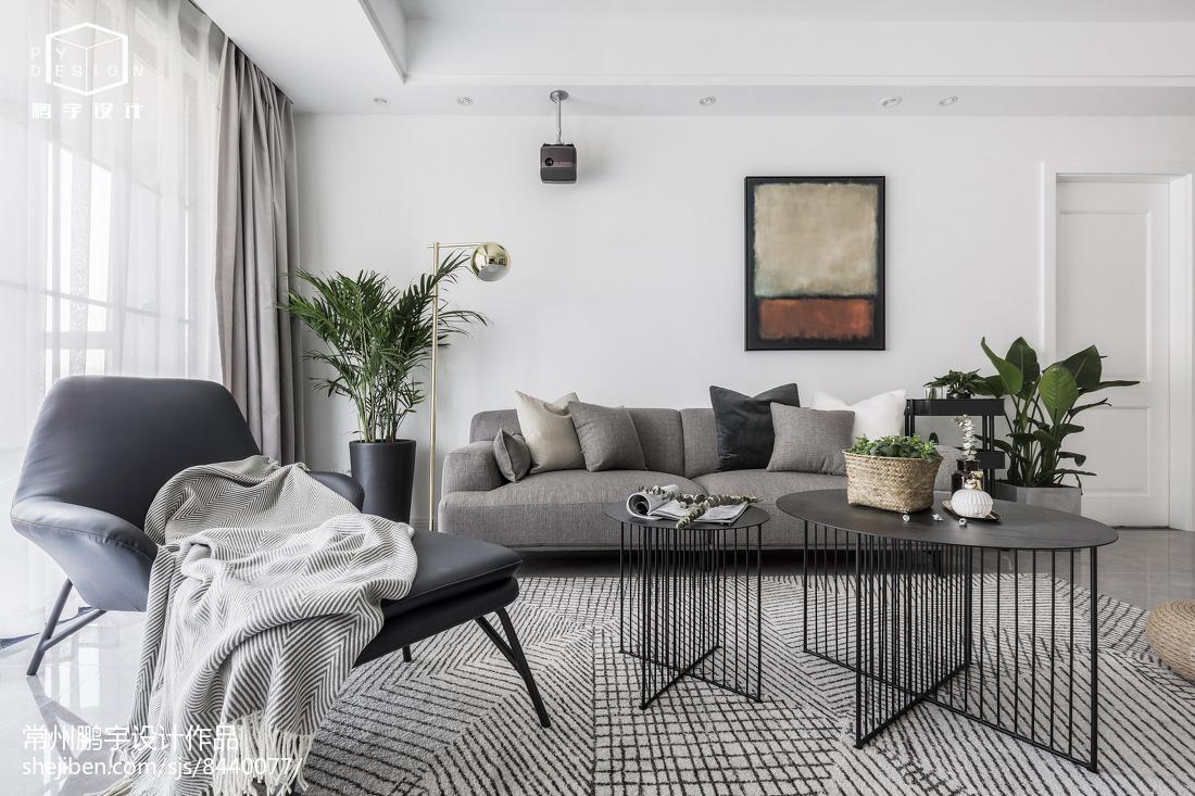 201876平米二居客厅欧式装饰图片