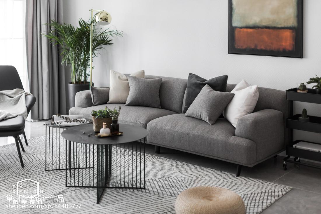 2018精选85平方二居客厅欧式装修图