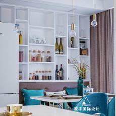 面积105平现代三居餐厅效果图