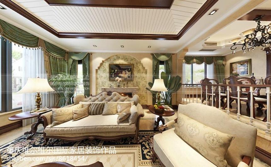 中式简洁雅致客厅装修效果图