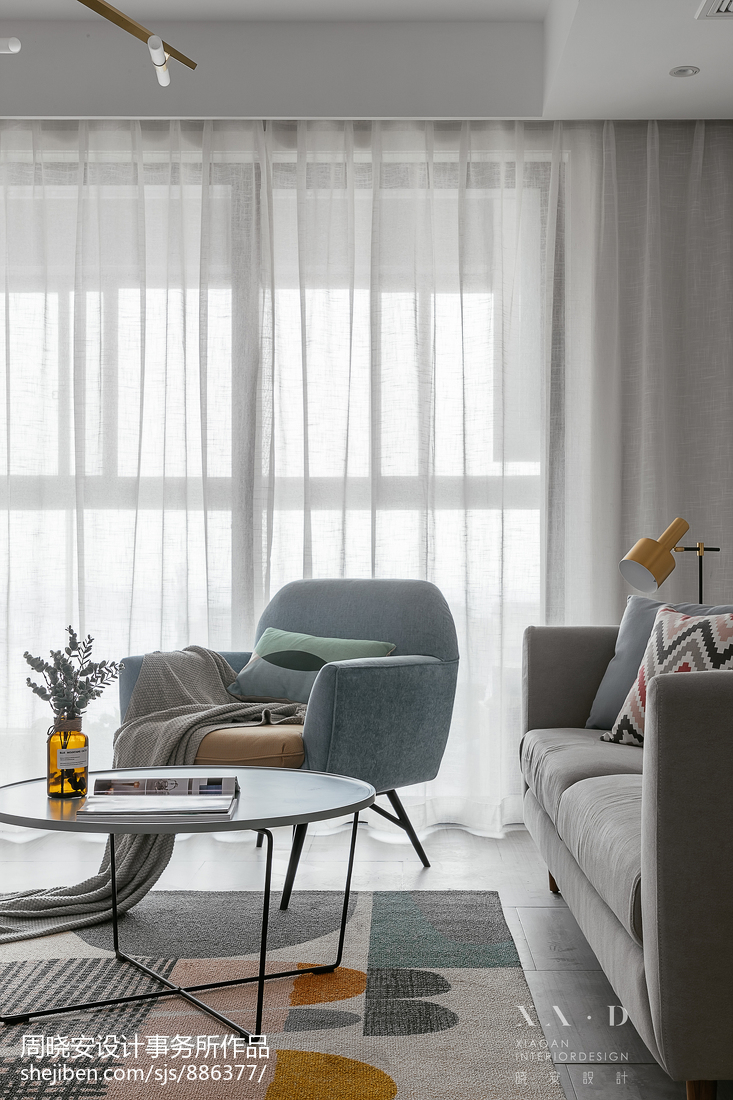 质朴83平北欧三居客厅设计案例
