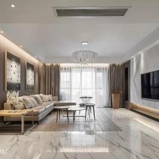 热门115平方四居客厅现代实景图片大全