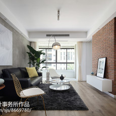 热门面积70平北欧二居客厅装饰图片