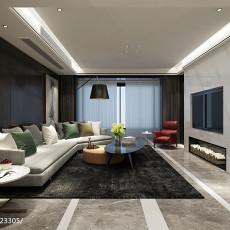 热门90平米三居客厅现代设计效果图