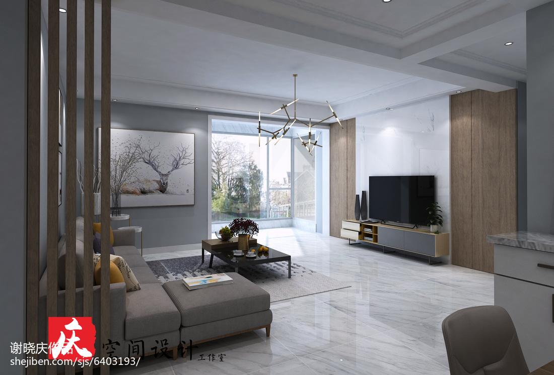 質樸125平現代四居裝修設計圖