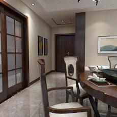 热门大小96平中式三居餐厅装修欣赏图