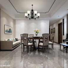 精美面积105平中式三居餐厅效果图片欣赏