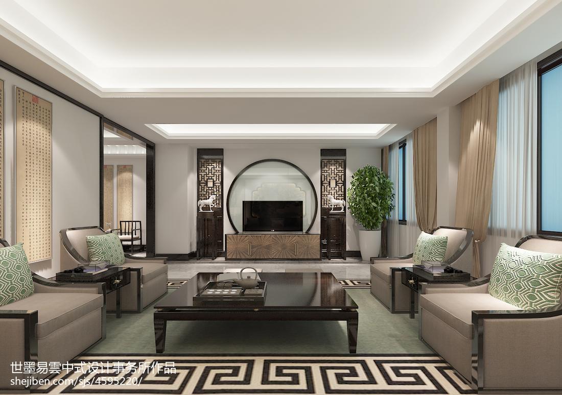 质朴298平中式别墅客厅装修美图