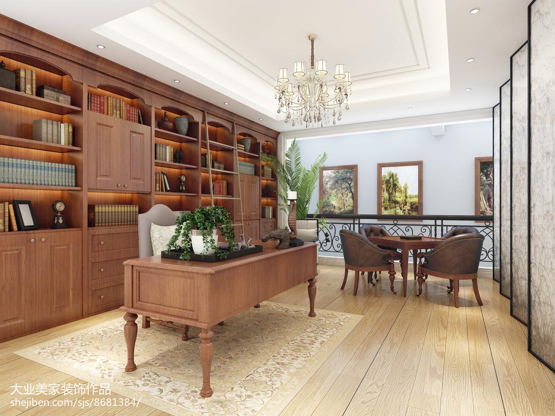 質樸282平歐式別墅書房圖片大全