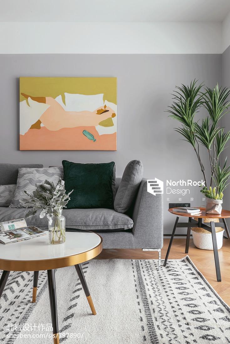 简洁76平北欧三居客厅设计效果图