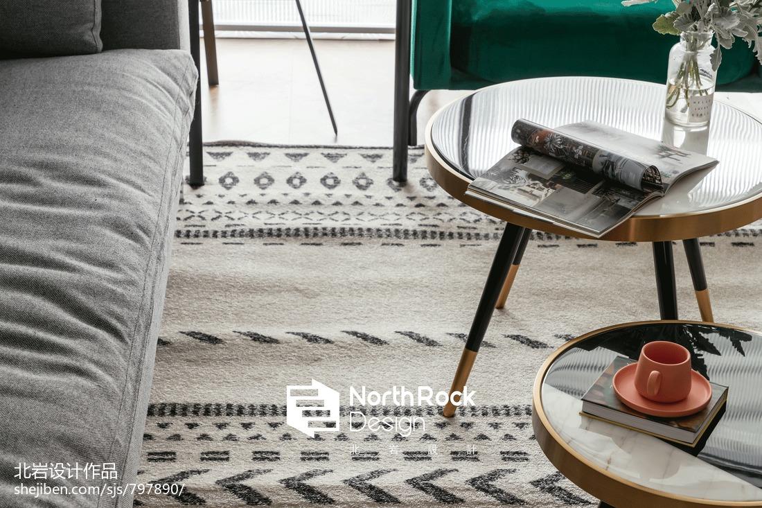 轻奢118平北欧三居客厅设计效果图