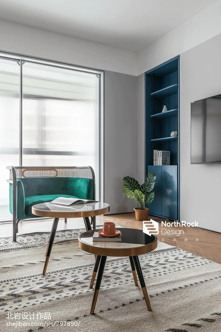 华丽100平北欧三居客厅设计图