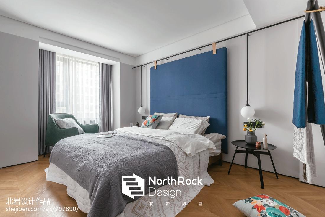 温馨85平北欧三居卧室装饰美图