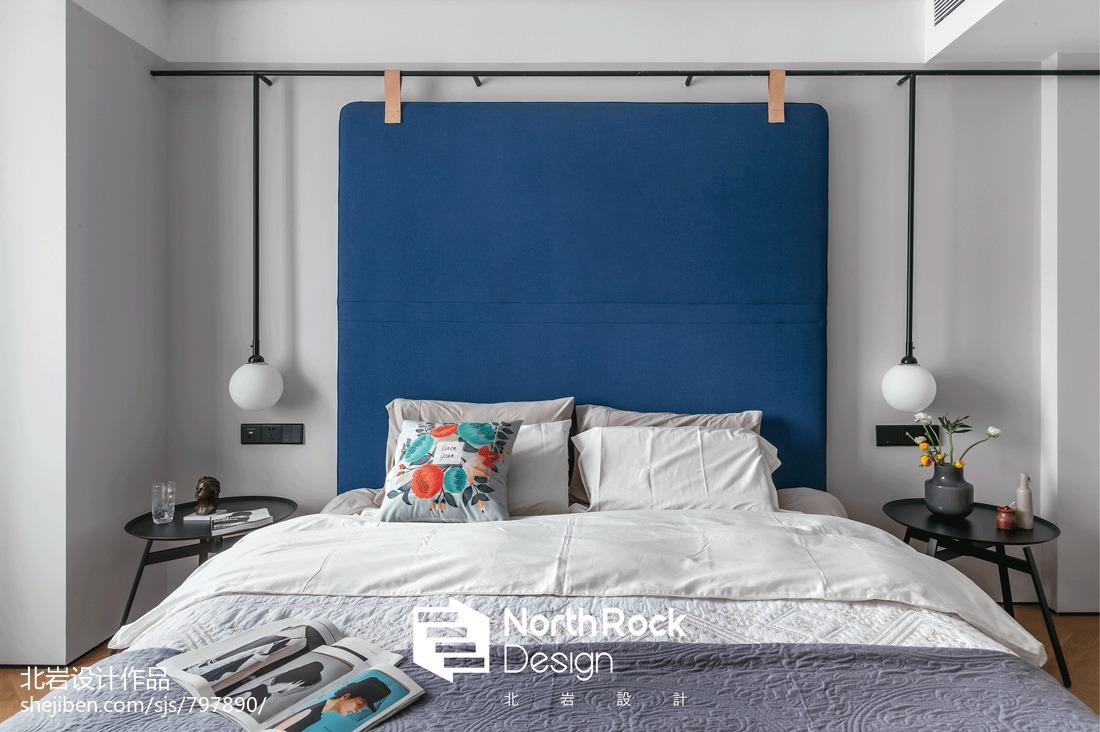 恬静北欧风卧室背景色设计
