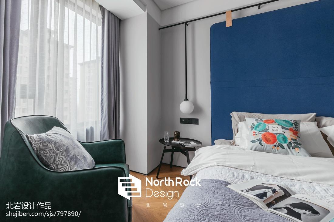 浪漫112平北欧三居卧室设计图