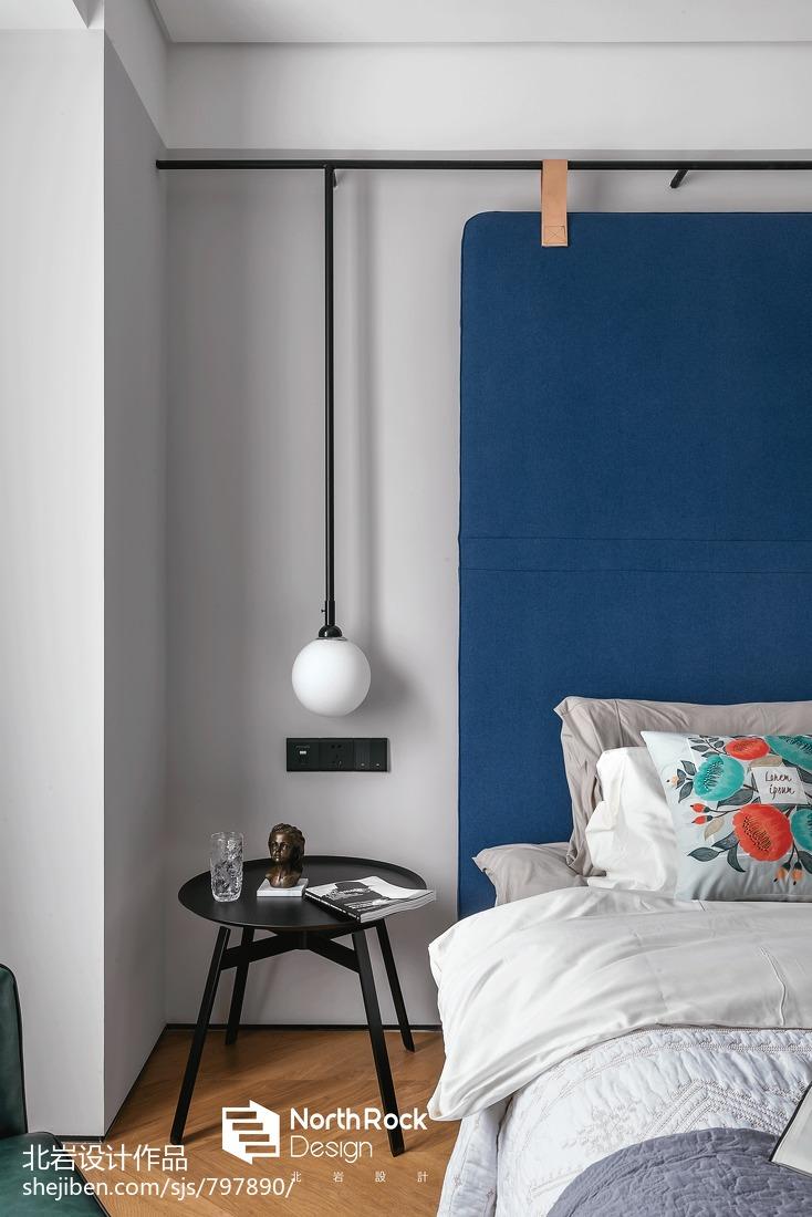 浪漫120平北欧三居卧室装饰图片