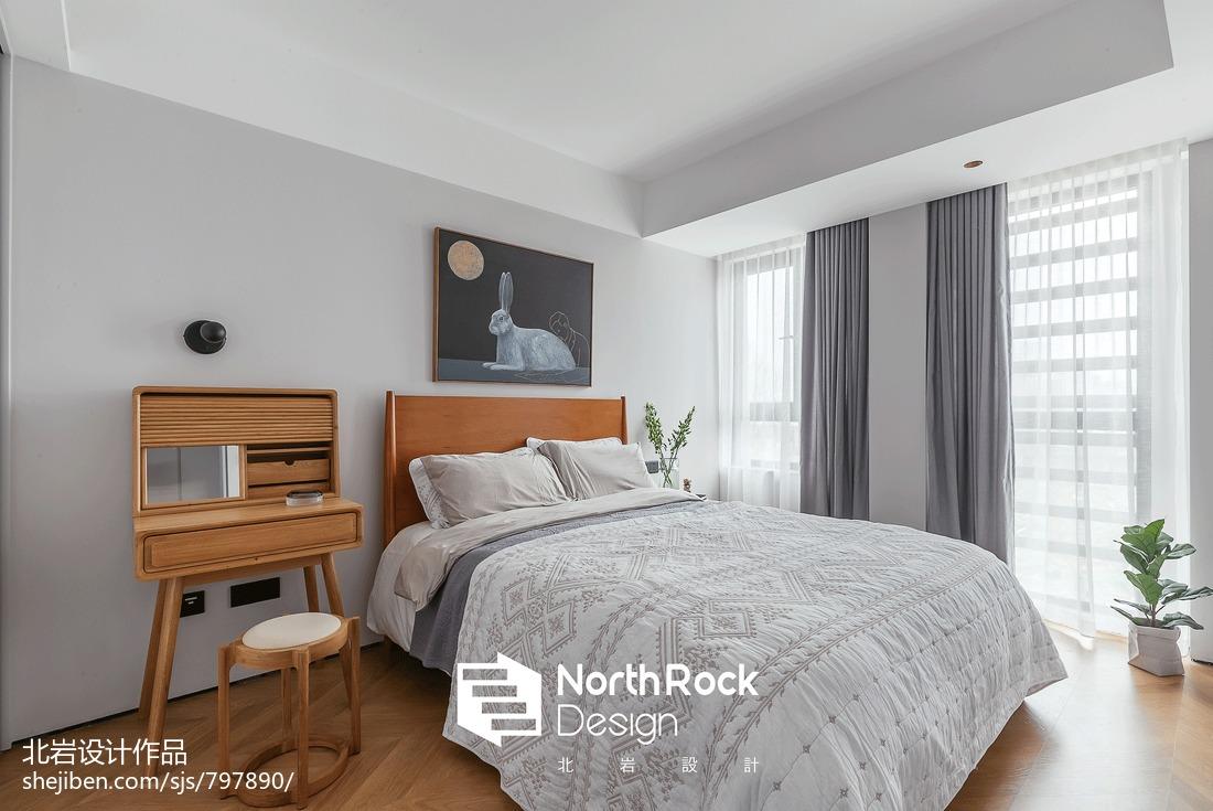 2019120平北欧三居卧室装修效果图