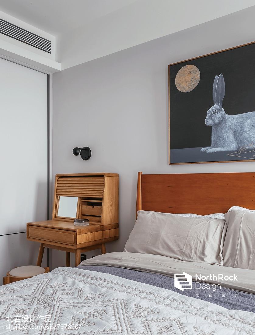 典雅80平北欧三居卧室装修装饰图
