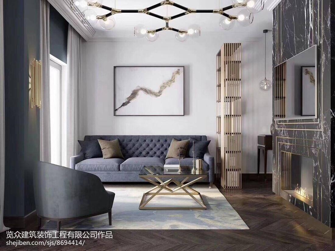 2018面积107平三居客厅装修实景图片大全