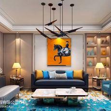 精选面积100平宜家三居客厅装修设计效果图片大全