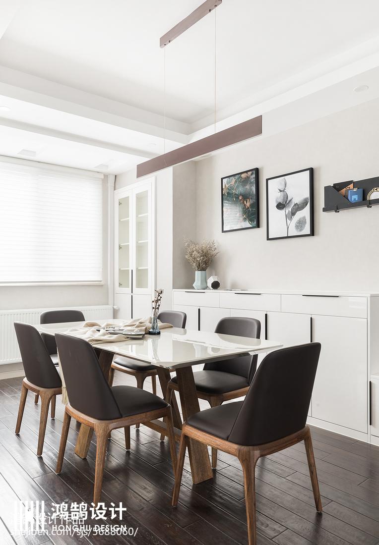 面積98平簡約三居餐廳裝修圖片欣賞