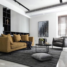 201997平现代三居客厅装修图