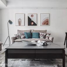 华丽107平现代二居客厅图片欣赏