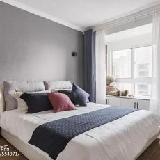 典雅70平现代二居卧室装修设计图